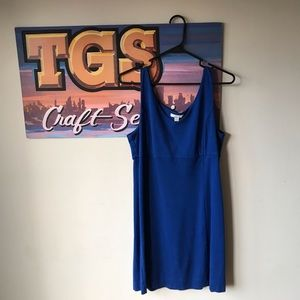 100% cotton royal blue New York & Company dress